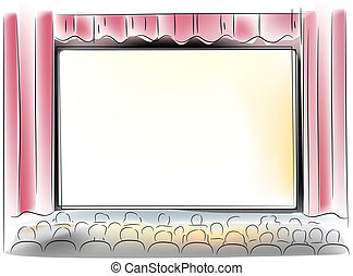 écran, théâtre