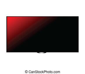 écran tv, hd, rouges