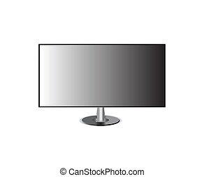 écran tv, isolé, hd