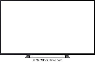 écran tv, isolé, vide