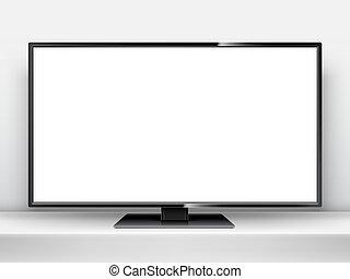 écran tv, mockup, vide