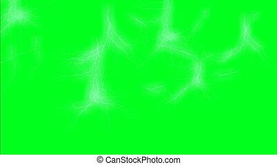 écran, vert, éclairages