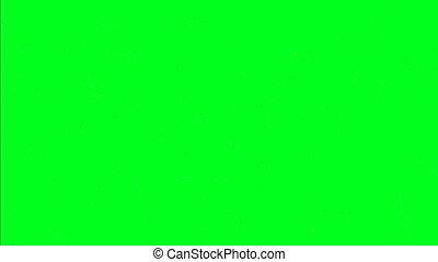 écran, vert, flocons neige, isolé