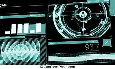 écrans, animation, numérique, interface, informatique, ...