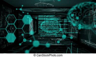 écrans, informatique, cerveau, humain, scientifique