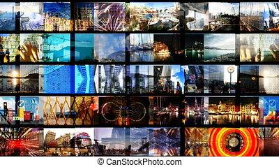écrans, tout, créé, soi, contenu, animation, numérique, hd