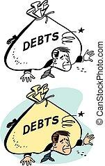 écrasant, dette
