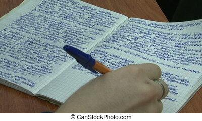 écrire, cahier