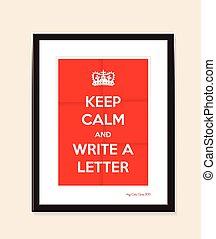 écrire, lettre, fond
