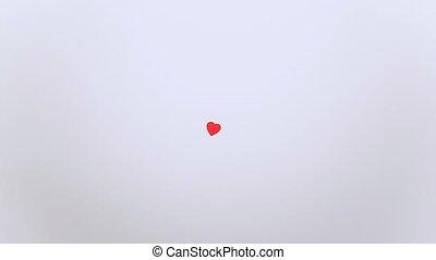 écrit, animation, vous, arrêt, aimez coeurs, mouvement, message