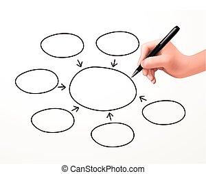 écrit, concept, humain, business, main