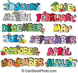 écrit, mois