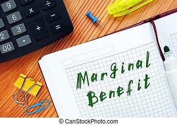 écrit, note, marginal, bénéfice