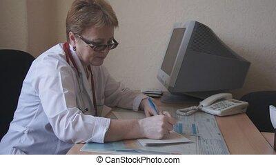 écrit, prescription, docteur