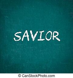 écrit, tableau, sauveur
