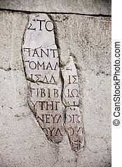 écriture antique