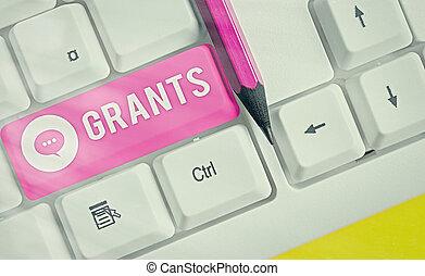 écriture, business, partie., ou, texte, produits, nonrepayable, fonds, disbursed, une, mot, concept, donné, grants.