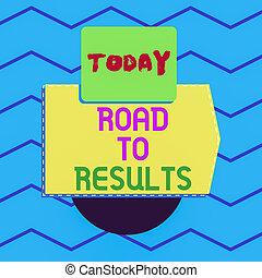 écriture, business, triangle, buts, progrès, symétrique, accomplissements, résultat, électronique, non, note, showcasing, sentier, projection, photo, results., printing., direction, route, appareil