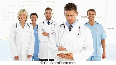 écriture, docteur, presse-papiers
