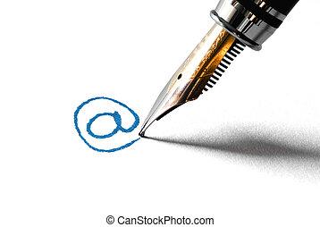 écriture, e-mail, communication