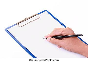 écriture, formulaire