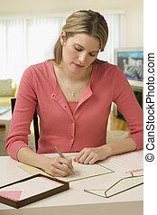 écriture lettre, femme