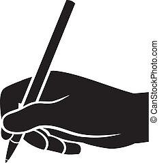écriture main