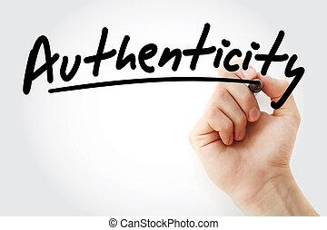 écriture, main, marqueur, authenticité