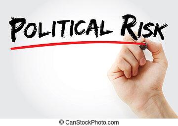 écriture main, politique, risque, à, marqueur