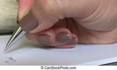 écriture, mains