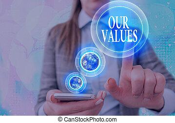 écriture, manière, texte, image, croire, values., ceci, signification, choses, meublé, vous, concept, notre, éléments, travail, important, nasa., écriture, vivant