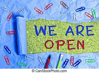 écriture, non, business, nous, ou, sides., texte, confiner, tout, open., enclore, accessible, barrière, mot, concept