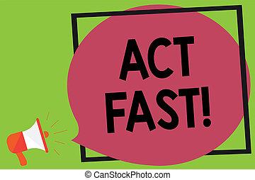 écriture, note, projection, acte, fast., business, photo, showcasing, volontairement, emménagez, les, plus haut, état, de, vitesse, initiatively, porte voix, haut-parleur, bruyant, crier, idée, parler, cadre, parole, bubble.