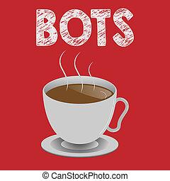 écriture, note, projection, bots., business, photo, showcasing, automatisé, programme, cela, courses, sur, internet, intelligence artificielle