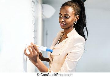 écriture, prof, whiteboard
