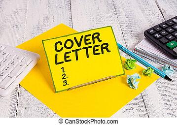 écriture, références, s, main, letter., interest., projection, business, photo, document, candidat, texte, couverture, expliquer, conceptuel