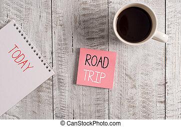écriture, stationnaire, business, errer, route, autour de,...