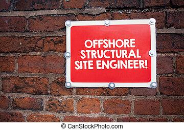 écriture, texte, écriture, mer, structural, site, engineer., concept, signification, pétrole gaz, industrie, engineering.