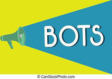 écriture, texte, bots., concept, signification, automatisé, programme, cela, courses, sur, internet, intelligence artificielle