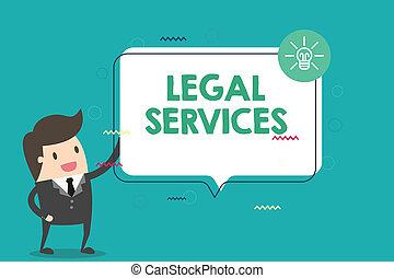 écriture, texte, légal, services., concept, signification, fournir, accès, à, justice, foire, procès, droit & loi, égalité