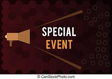 écriture, texte, spécial, event., concept, signification, fonction, à, engendrer, argent, pour, non, profit, a, bondé, occassion