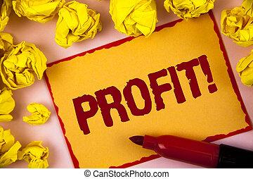 écriture, uni, photo, note, salaire, projection, collant, gagné, arrière-plan., balles, revenu, argent, dans, papier, showcasing, paiement, call., business, profit, motivation, écrit