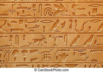 écriture, vieux, pictorial, égyptien