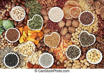 écrou, collection, graine, fruits secs