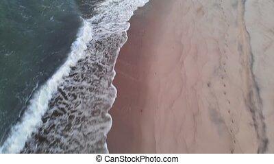 écumer, gens, clã©, heure, briser, sans, après, coastline., ...