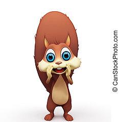 écureuil, appeler