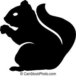 écureuil, icône