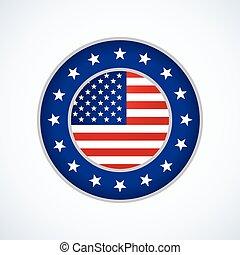écusson, américain, conception, drapeau