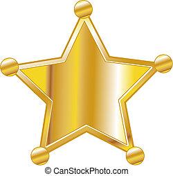 écusson, art, shérif, agrafe
