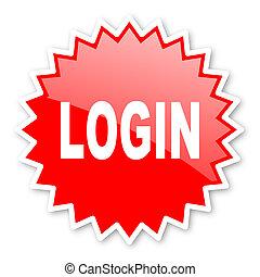 écusson, autocollant, bannière, toile, étoile, timbre, emblème, étiquette, étiquette, login, publicité, rouges, icône